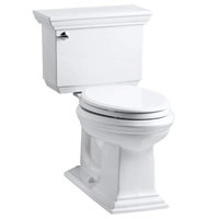 KOHLER K-3817-0 Memoirs Stately Comfort Height Two-Piece Elongated 1.28 GPF Toilet